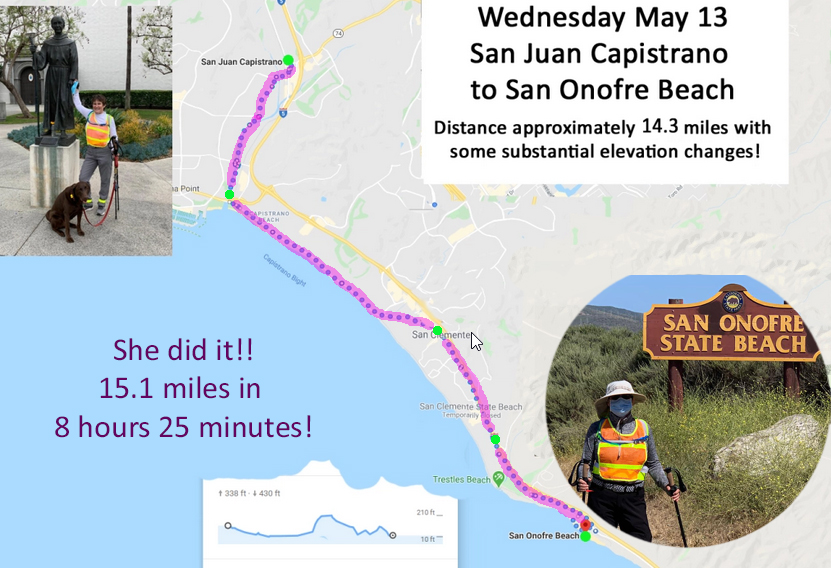 Day 5: Mission (SJC) to San Onofre was a beach!!